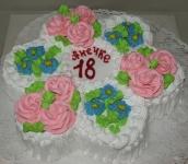 59 П Ромашка с розами и васильками от 1,5 кг