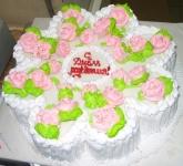 75 П Ромашка с розами от 1,5 кг
