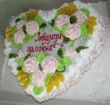 92 П Фруктово-цветочное сердце от 1,5 кг
