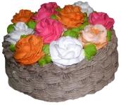 9 Ю Лукошко с цветами от 1 кг